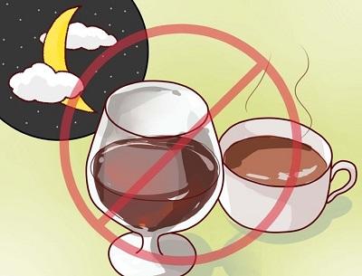 не пейте алкоголь и кофе