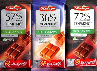Молочный и тёмный шоколад