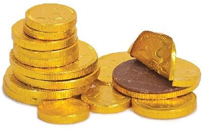 Шоколад деньги