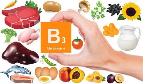 Витамин B3 в продуктах