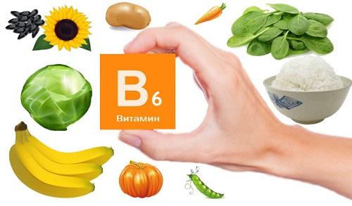 Витамин B6 в продуктах