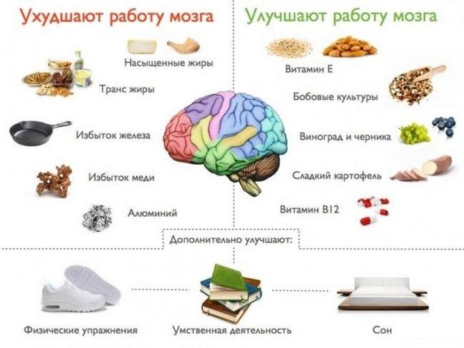 Что лучше и хуже для мозга