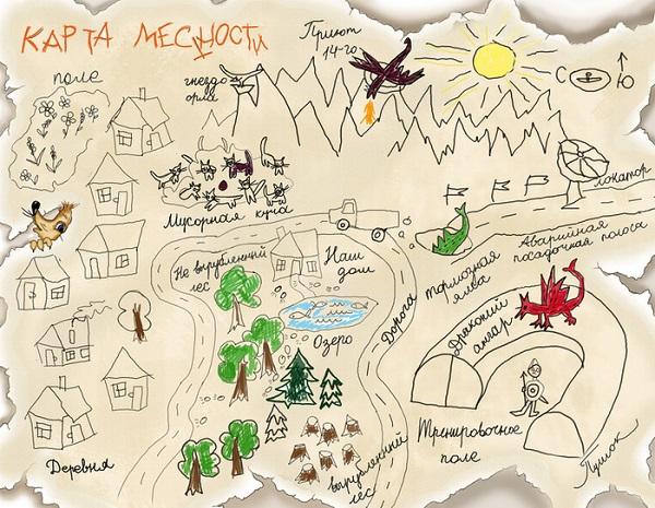 Карта местности на память