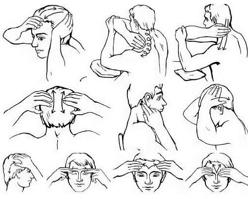 Массаж головы от боли