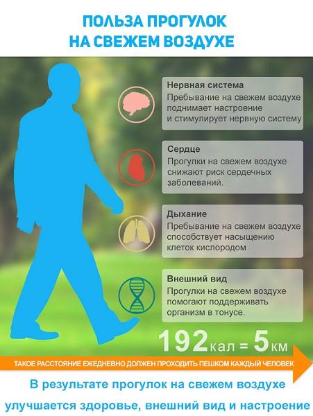 Польза прогулок