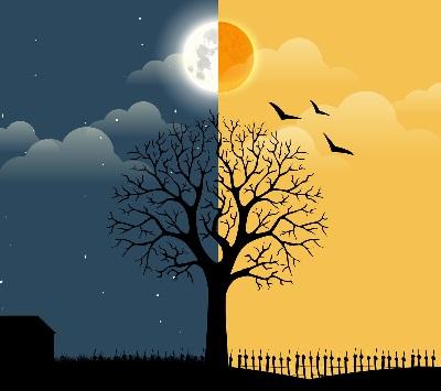 Разница днём и ночью